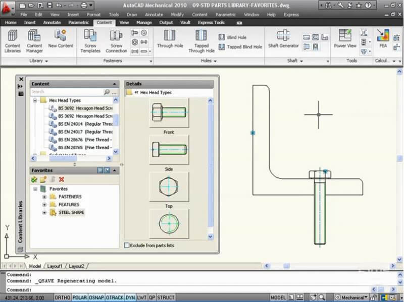 AutoCAD Mechanical 2010 — рис. 1