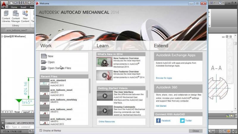 AutoCAD Mechanical 2014 — рис. 1